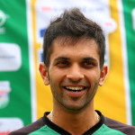 DURBAN, SOUTH AFRICA - JANUARY 27: Keshav Maharaj during the Sunfoil Dolphins media open day at Sahara Stadium Kingsmead on January 27, 2015 in Durban, South Africa. (Photo by Anesh Debiky/Gallo Images)