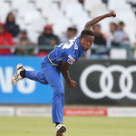 CAPE TOWN, SOUTH AFRICA - OCTOBER 16: Tshepo Moreki of the Cape Cobras during the Momentum One Day Cup match between Cape Cobras and The Unlimited Titans at PPC Newlands on October 16, 2015 in Cape Town, South Africa. (Photo by Carl Fourie/Gallo Images)